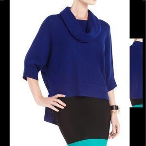 "BCBGMAXAZRIA ""Reece"" Cowl Neck Royal Blue Sweater"